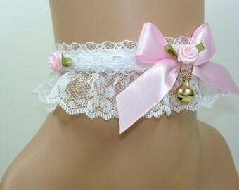 Cat Choker-Lolita Fashion Choker-White Lace-White Choker-Women Choker-Christmas Gift-Gift For Her-White lace Choker