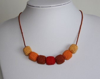 Crochet Beads Necklace
