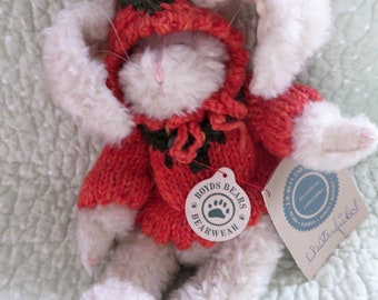 Vintage Boyds Bears Bunny in Carrot Sweater and Hat