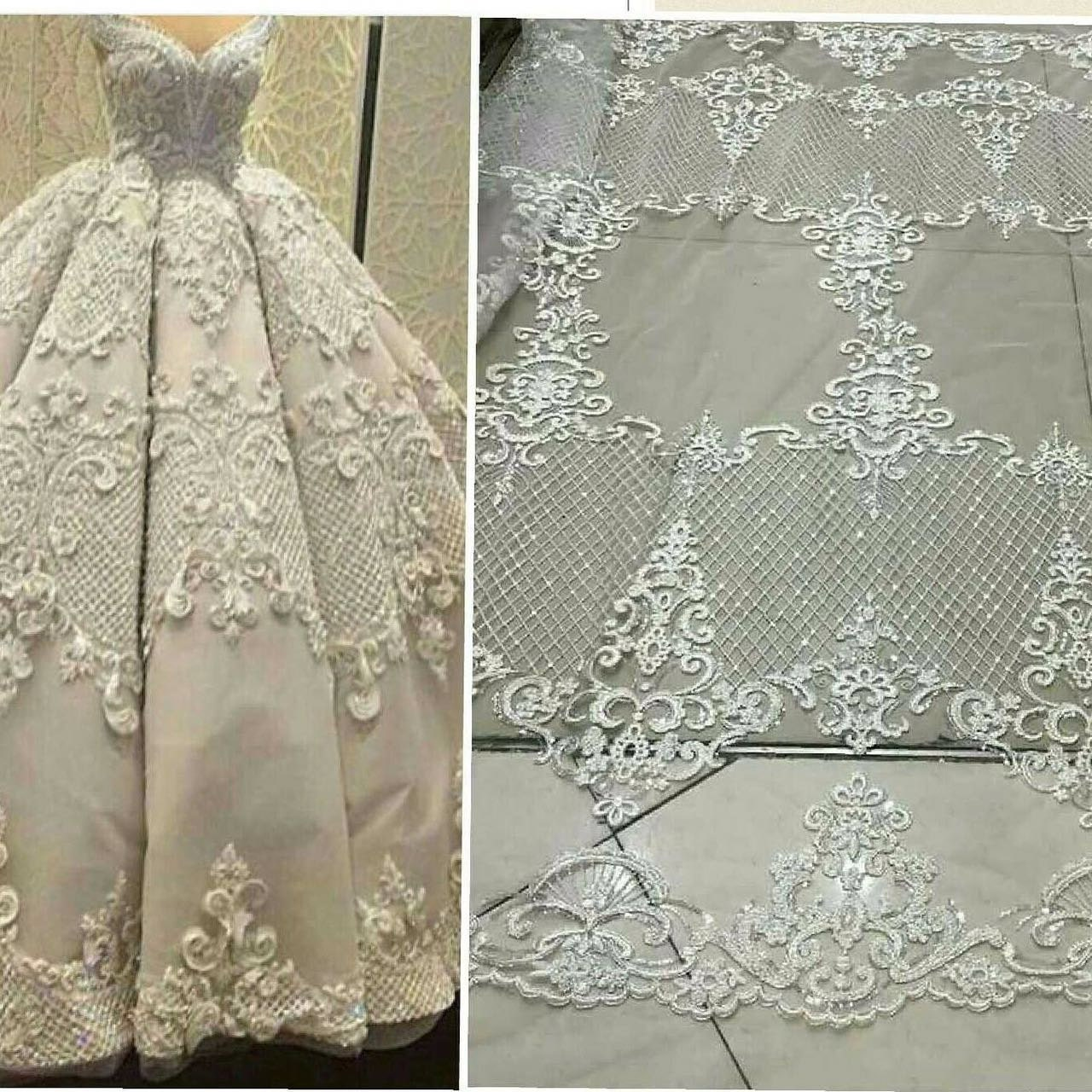 Elegent tulle lace bridal lace fabric fashion wedding dress fabric ...