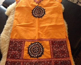 VINTAGE BEADED INDIAN TUNIc