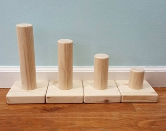 Solid Wood Jewelry Display - Bracelet Stand - Natural Pine