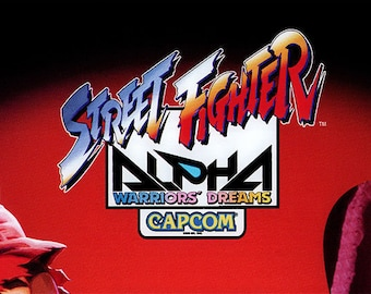 Street Fighter Alpha Arcade Marquee For Reproduction Header/Backlit Sign
