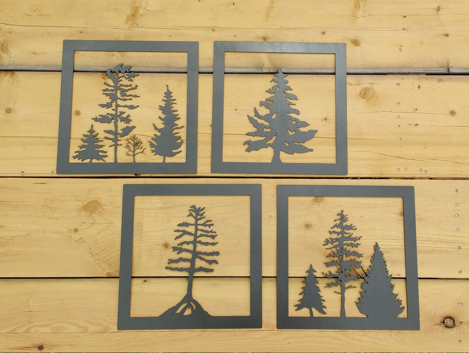 Metal Tree Art Wall Art Decoration Rustic Silhouette