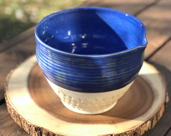 Indigo Textured Mixing bowl with Spoon Rest