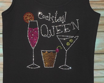 Rhinestone embellished black Vneck short sleeve Tshirts or tank tops. top quality. sizes small - xxl. free shipping