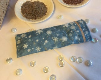 Meditation/Yoga Eye Pillow filled with flax seeds and lavender in washable pillow case.