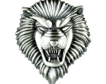 Sterling Silver Lion Pendant