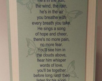 Sympathy card for loss of a child