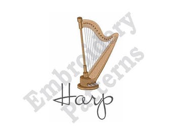 Harp - Machine Embroidery Design