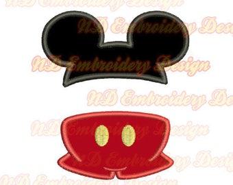Split-Mickey Hose Stickerei Applikation Design, Bx-Datei enthalten, ms-152