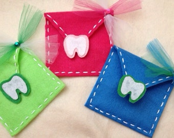 Tooth Fairy Envelope for Teeth letters and Money, Boys and Girls colors available