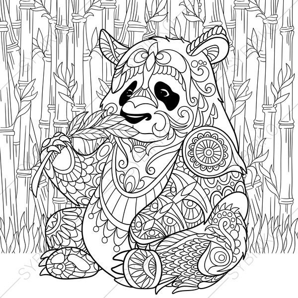 Panda Bear 2 Coloring Pages Animal Book For