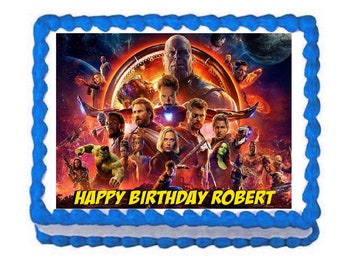 Avengers Infinity War party decoration edible cake image cake topper frosting sheet