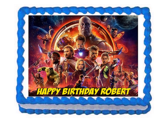 Avengers Infinity War Party Decoration Edible Cake Image Cake