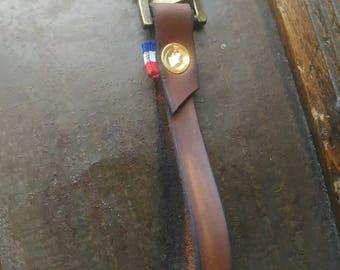 Leather strap key holder