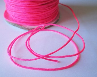 5 m 1.5 mm neon pink nylon string