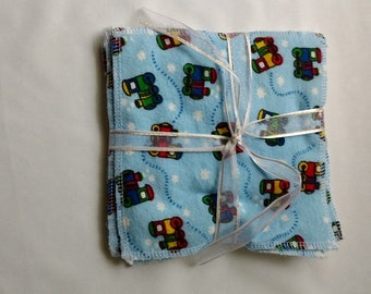 Flannel Cloth Wipes, Baby Wipes, Eco Friendly Wipes Package of 6