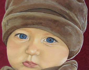 Custom Baby Portrait - Child Paintings - By Toronto Portrait Artist Malinda Prud'homme