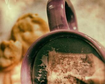 Tea Break, Cookies, Analog, Zen, Peaceful, Wall Art, Nature Print, Fine Art Photography