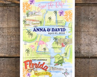 Watercolor Wedding Maps, Hand Painted Guest Map, Save the Date Wedding Maps, Personalized Wedding Maps, Hand Drawn Custom ART FEE ONLY