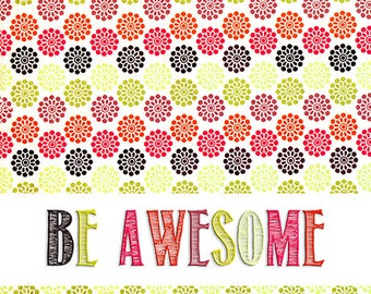 Be Awesome 8x10 Print