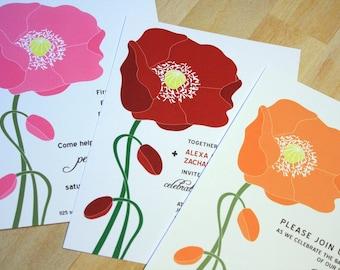 SAMPLE Poppy Invitations