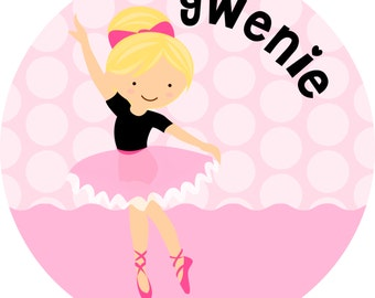 Ballet Personalized Kids Plate