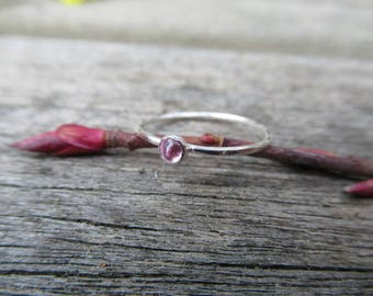 Pretty in Pink Glimmer Ring Pink Tourmaline Sterling Silver Ring