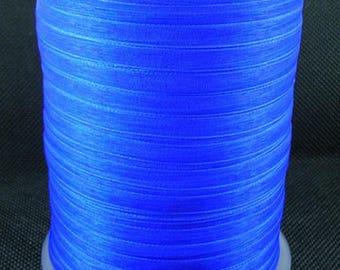 10 m 6 mm wide blue organza Ribbon