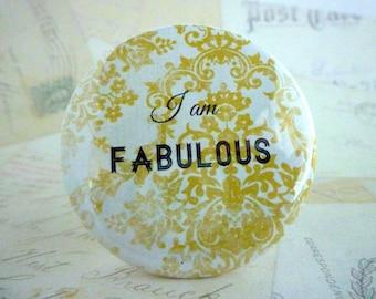 Pocket Mirror - I am Fabulous - Yellow