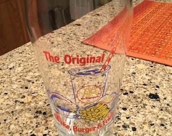 McDonald's Glass..The Original Shake, Burger & Fries!
