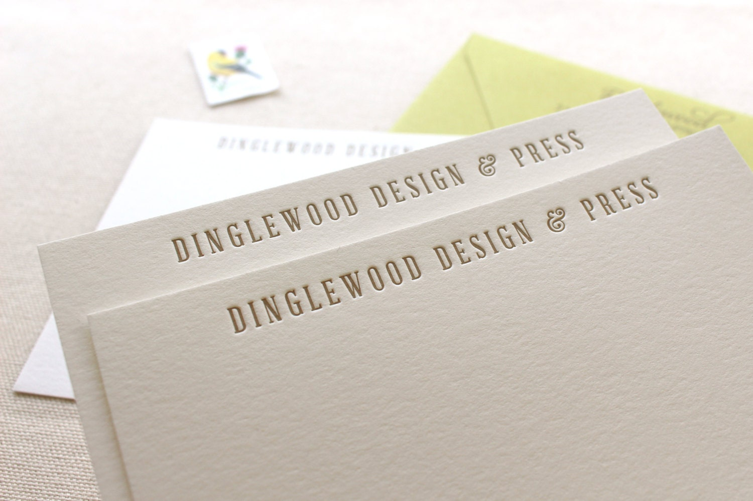 Letterpress Business Note Cards Logo cards Thank you