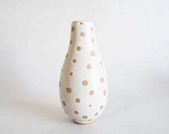 Polka dots single stem vase - emono