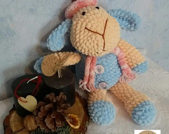 Сrocheted lamb crochet toy soft yarn fiberfill amigurumi