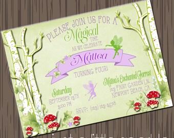Printable Fairy Invitations Printable Woodland Fairy Invite, Printable Fairy Invite, Woodland Fairy Garden invitation, Fairy Garden Party