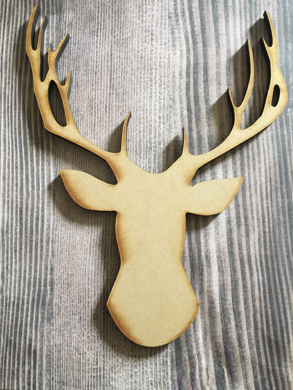 Deer decor Deer wood cutout deer letters laser wood cutout
