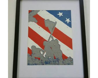 American Flag Wall Art, Framed Prints, Patriotic Wall Decor, Living Room Wall Decor, Veterans Day Gift, Patriotic Gifts, Flag Picture