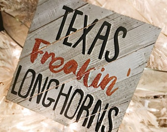 Texas Longhorns hand painted Sign