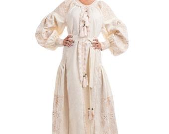Ethnic dress Vyshyvanka Ukrainian embroidery Wedding dress boho style XS S M L XL 2XL Long sleeve