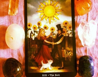 The Steampunk Tarot Card Reading, Divination, Intuitive Reading using Crystals