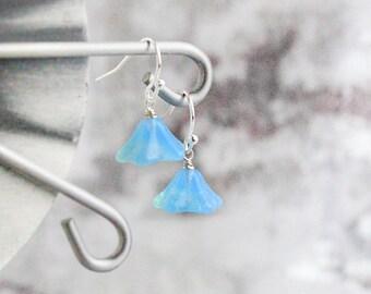 bohemian earrings dangle blue earrings light blue jewelry summer earrings romantic gift wife gift idea for her opal earrings girl    пя56