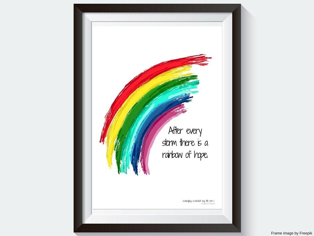 Rainbow Baby Printable Wall Hanging Rainbow Of Hope
