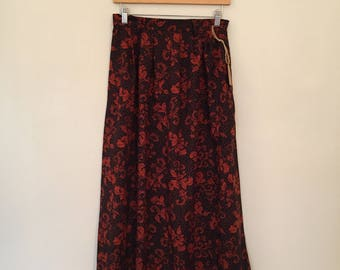 Vintage Halloween Skirt / Med/Large / All Hallows Eve