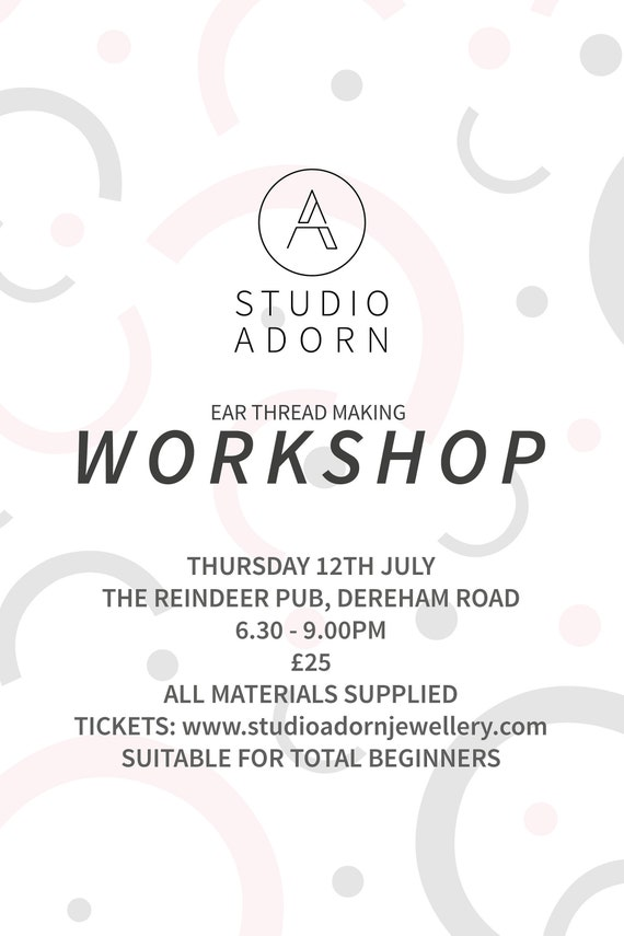 Ear thread making worksop - New date