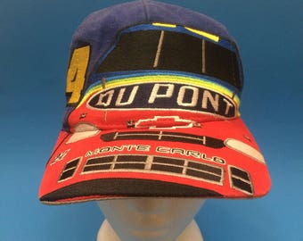 Vintage Du Pont Racing Dale Earnhardt SnapBack Hat Adjustable 1990s