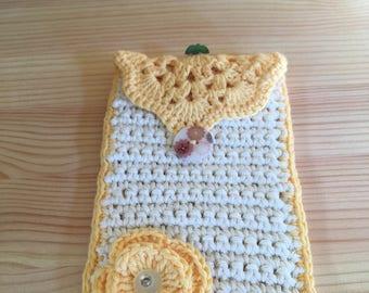 Crochet Mobile phone case, handmade, cotton
