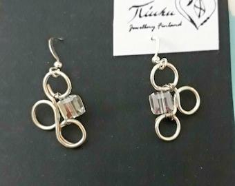Stylized Puzzle Piece Earrings