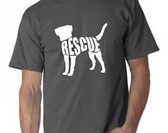 LAST CHANCE SALE Adult t shirt , dog rescue shirt, animal rescue shirt , dog shirt, i love dogs,, pet lover, , adopt dont shop