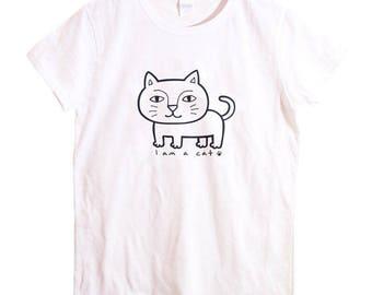 Cat shirt, Women's Cat T-shirt, Cat T-shirt, cat tee, animal Tee